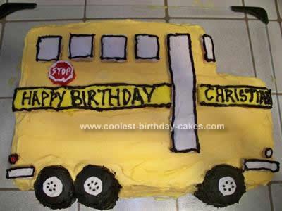 Outstanding Coolest School Bus Sugar Cookie Birthday Cake Funny Birthday Cards Online Drosicarndamsfinfo