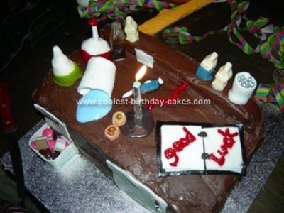 Homemade Science Lab Cake