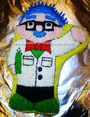Homemade Scientist Cake