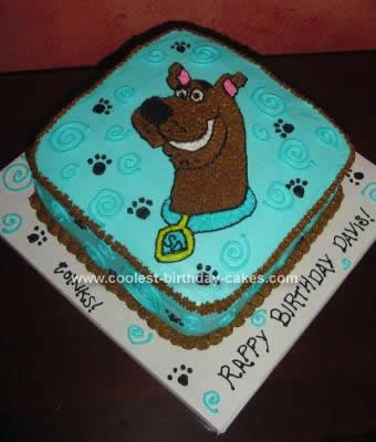 Homemade Scooby Birthday Cake Design