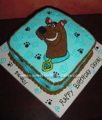 Homemade Scooby Birthday Cake Design