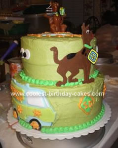 Homemade  Scooby Doo And The Mystery Machine Birthday Cake