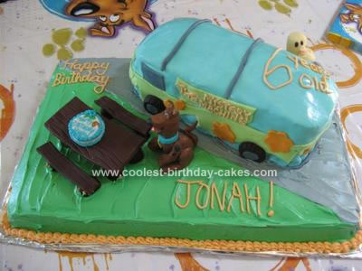 Homemade Scooby Doo Birthday Cake