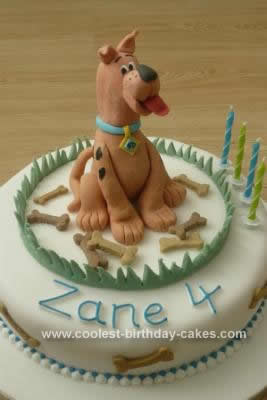Homemade Scooby Doo Cake