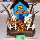 Homemade Scooby Doo Haunted House Cake