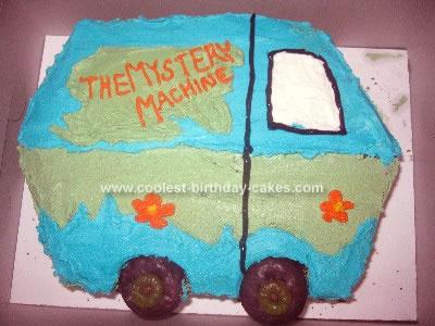 Homemade Scooby Doo Mystery Machine Cake