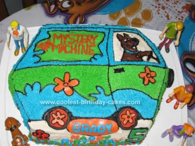 Homemade Scooby Doo Mystery Machine Cake