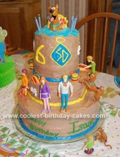 Homemade Scooby Doo Tiered Cake