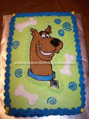Homemade Scooby-Doo Cake
