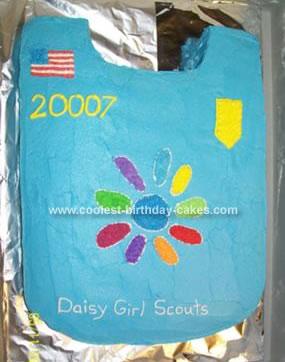 Homemade Scout Uniform Cake