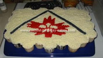 Homemade Scouts Cupcake Cake