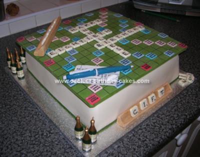 Homemade Scrabble Cake