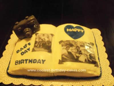 Homemade Scrapbook Cake Idea