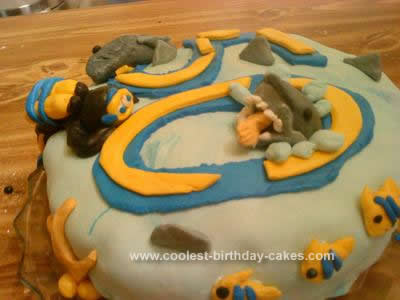 Homemade Scuba Cake for a 50th Birthday