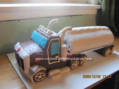 Homemade Semi Trailer Truck Cake