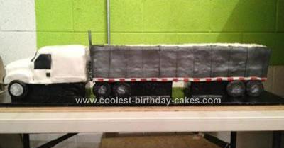 Homemade Semi Truck Birthday Cake