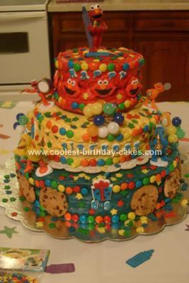 Homemade Sesame Birthday Cake