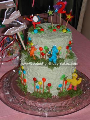 Homemade Sesame Street Band Cake