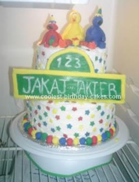Awe Inspiring Coolest Sesame Street Birthday Cake Funny Birthday Cards Online Hetedamsfinfo