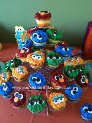 Homemade Sesame Street Birthday Cake Design