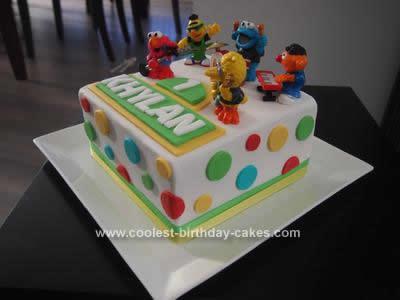 Homemade Sesame Street Cake