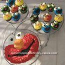 Homemade Sesame Street Cupcakes
