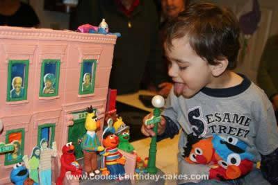 Sesame Street Neighborhood 3rd Birthday Cake