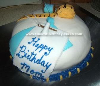 Homemade Sewing Birthday Cake