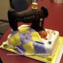 Homemade Sewing Machine Cake