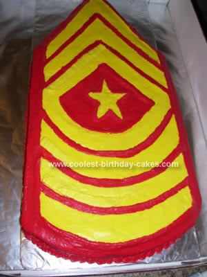 Homemade Sgt. Major Cake