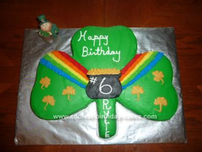 Homemade Shamrock Birthday Cake