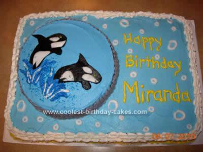 Homemade Shamu Birthday Cake Design