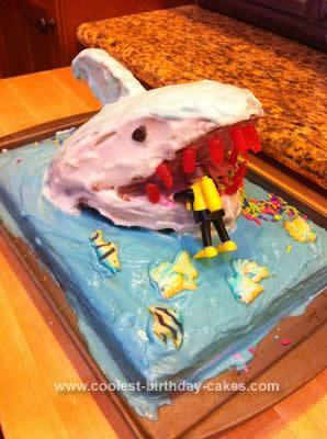 Homemade Shark Attack Cake