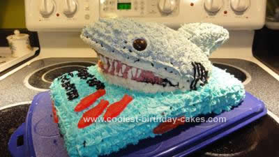 Homemade Shark Attack Cake Design