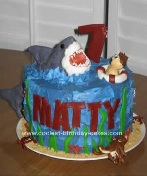 Homemade Shark Birthday Cake Idea