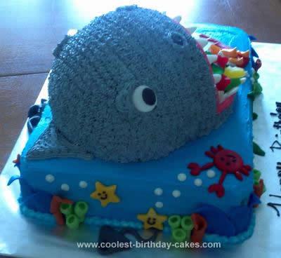 Homemade  Shark Cake