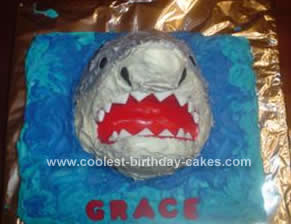 Coolest Shark Jumping Out of the Water Cake
