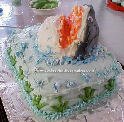 Homemade Shark N Ocean Cake