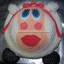 Homemade Sheep Birthday Cake