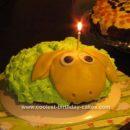 Homemade Sheep Cake