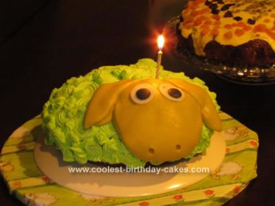 Homemade Sheep Cake