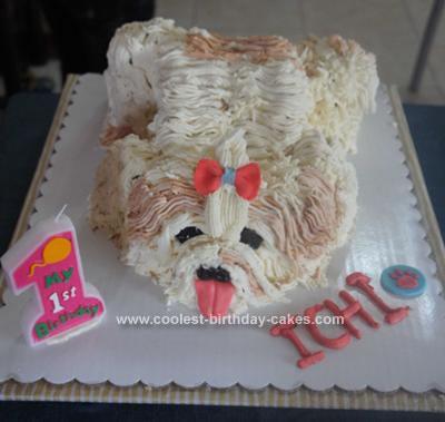 Homemade Shih Tzu Cake