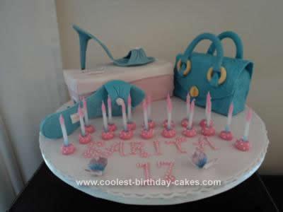 Homemade Shoe and Bag Cake