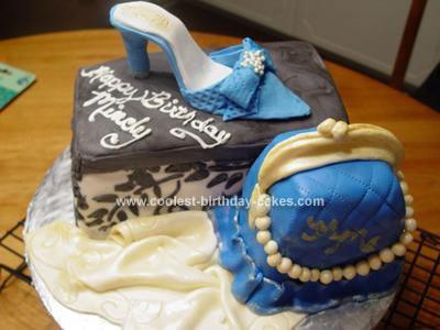 Homemade Shoe And Purse Birthday Cake