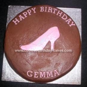 Homemade Shoe Birthday Cake