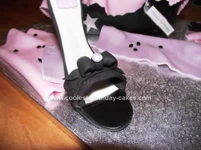 Homemade Shoe Birthday Cake Design