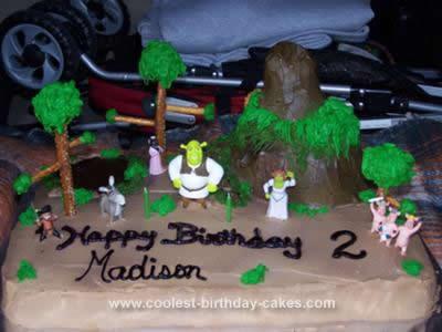 Homemade Shrek Birthday Cake