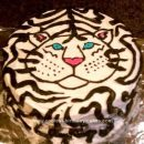 Homemade Siberian Tiger Ice Cream Cake