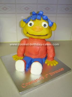 Homemade Sid the Science Kid Cake