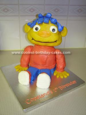 Homemade Sid the Science Kid Cake
